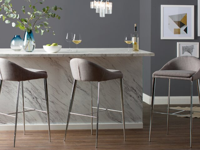 Excellent Modern Barstools Counter Stools Allmodern Uwap Interior Chair Design Uwaporg