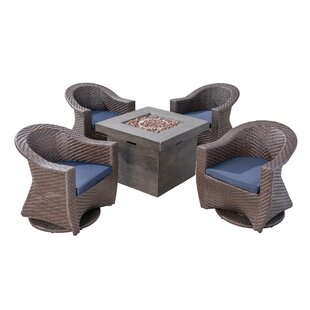 Renee Patio 5 Piece Conversation Set with Cushions