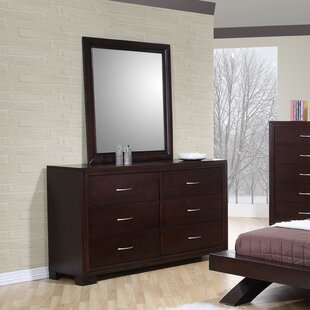 Wrought Studio Linkwood 6 Drawer Double Dresser with Mirror Image