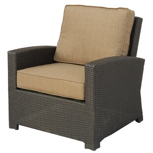 Leonore Wicker Club Chair with Cushion