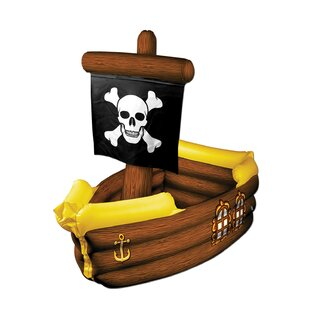 Inflatable Pirate Ship Ice Chest Cooler