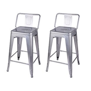 Capucine 24 Bar Stool (Set of 2) Williston Forge