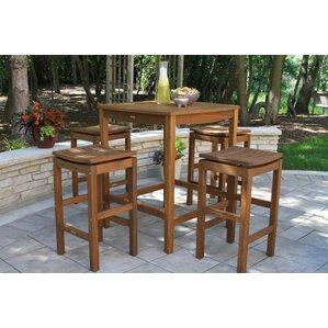 Wonderful Willene Square Bar Height Ecualyptus Table