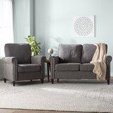 Hayton Fabric Modern 2 Piece Living Room Set by Charlton Home®