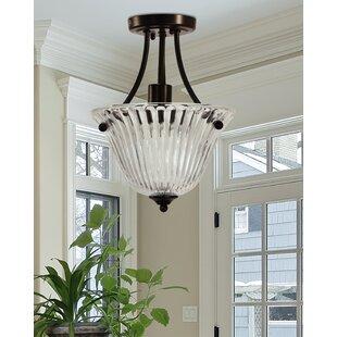 Charlton Home Destiney 1-Light LED Semi Flush Mount