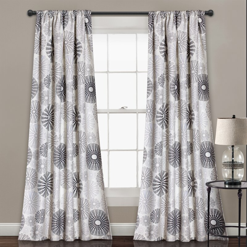 Totterdown Nature / Floral Blackout Thermal Rod Pocket Curtain Panels