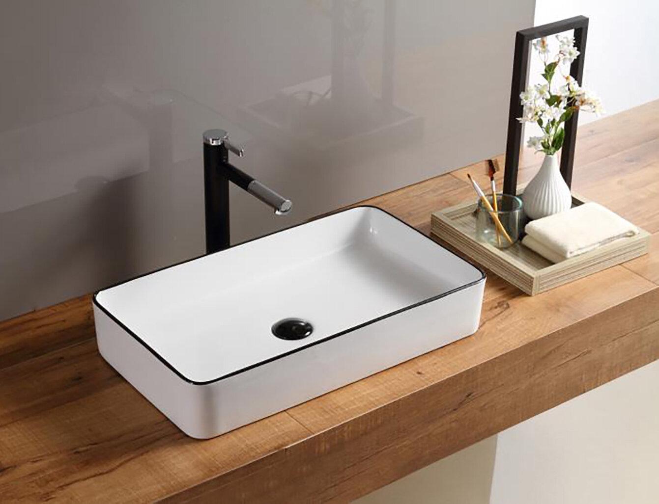 Hometure Ceramic Rectangular Vessel Bathroom Sink Reviews