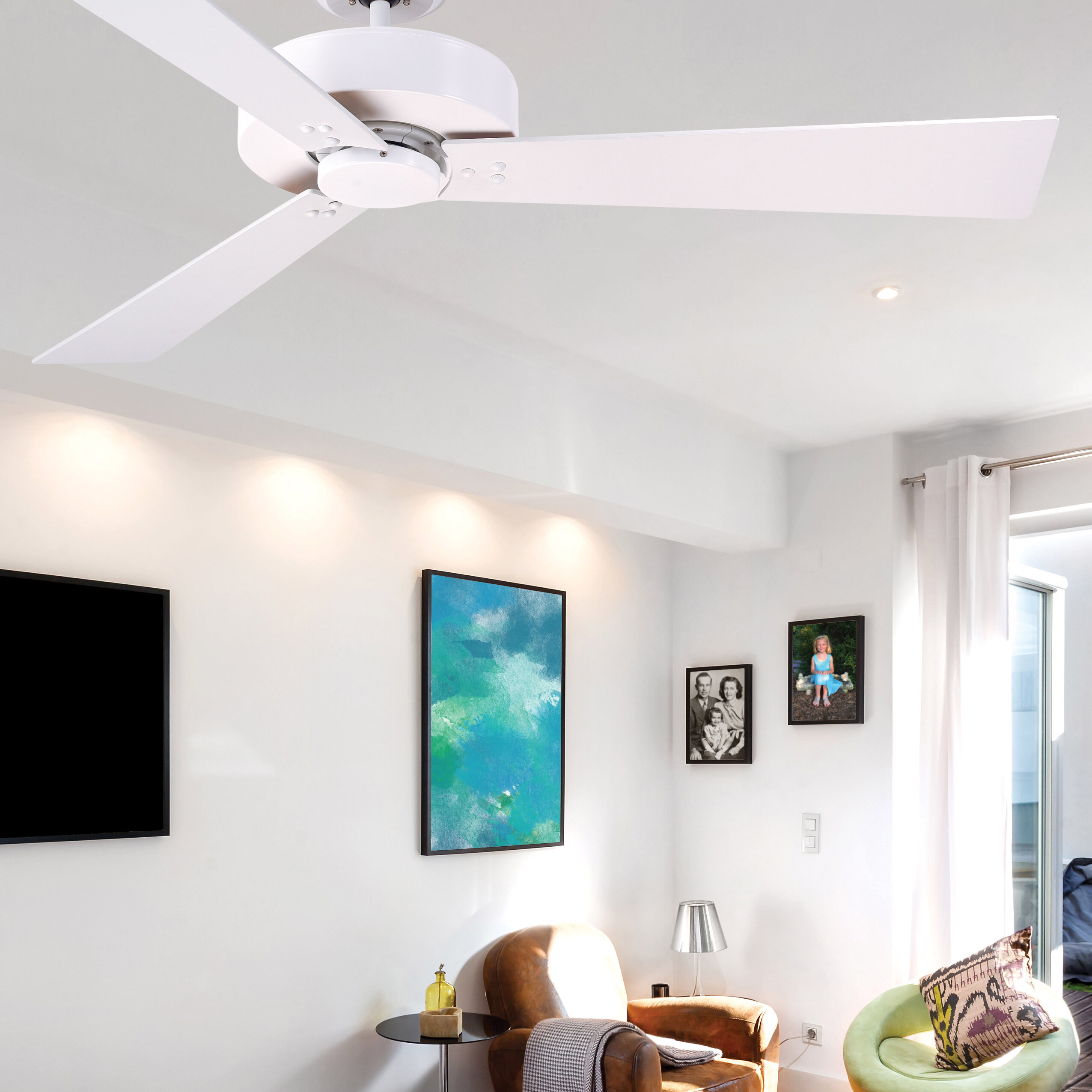 "Orren Ellis 52"" Bai 3 Blade Ceiling Fan & Reviews"