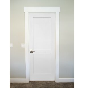 Primed Shaker 2 Panel Solid Manufactured Wood Panelled MDF Prehung Interior Door