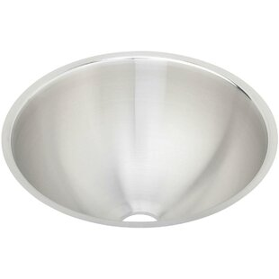 Elkay Asana Metal Circular Undermount Bathroom Sink with Overflow