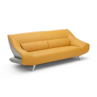 Boyertown Leather Sofa by Orren Ellis