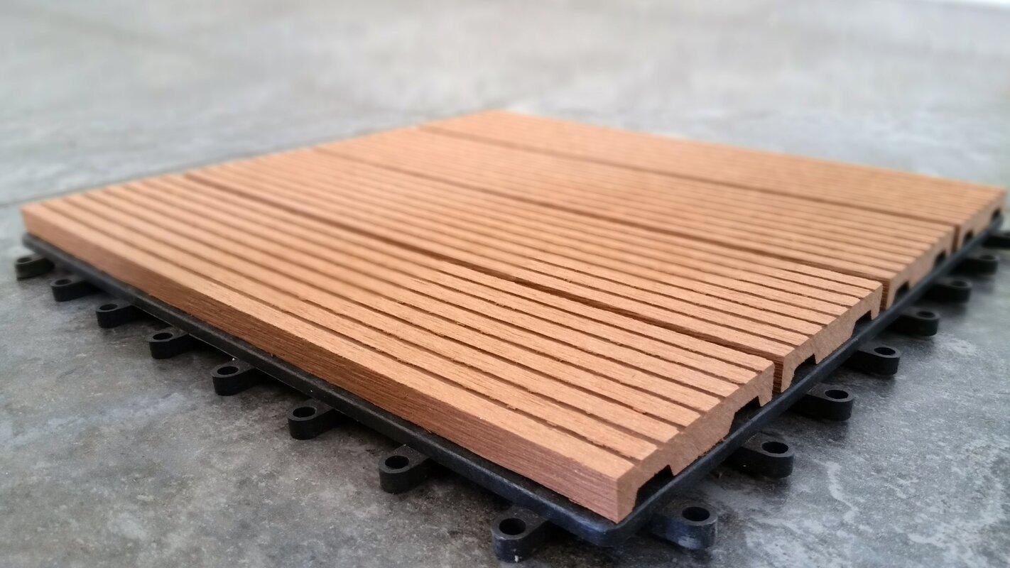Vifah composite teak 12 x 12 interlocking deck tiles reviews composite teak 12 x 12 interlocking deck tiles dailygadgetfo Gallery