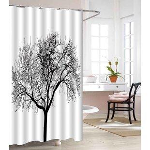 Tree Design Heavy-Weight Waterproof Vinyl Shower Curtain ByEast Urban Home