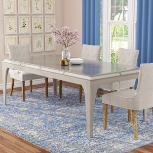One Allium Way Clay Contemporary Dining Table