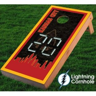Lightning Cornhole Electronic Scoring Kansas City Skyline Cornhole Board