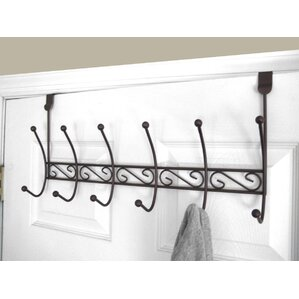 Beautiful 6 Hook Over The Door Coat Rack