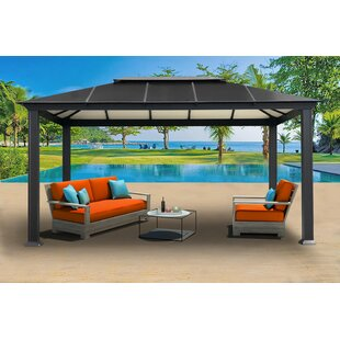 Newport 11 Ft. W x 16 Ft. D Aluminum Patio Gazebo by Paragon-Outdoor
