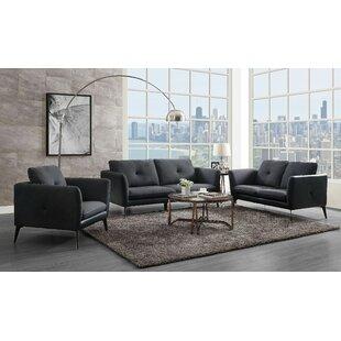 Aurilia 3 Piece Standard Living Room Set by Latitude Run