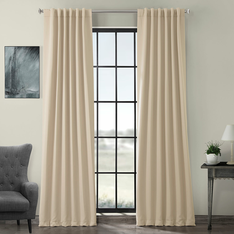 Destinie Solid Color Room Darkening Rod Pocket Curtain Panels Reviews Joss Main