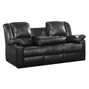 Savings Arely Leather Reclining Sofa by Red Barrel Studio Reviews (2019) & Buyer's Guide