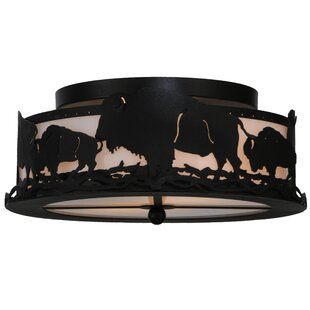 Meyda Tiffany Buffalo 2-Light Flush Mount