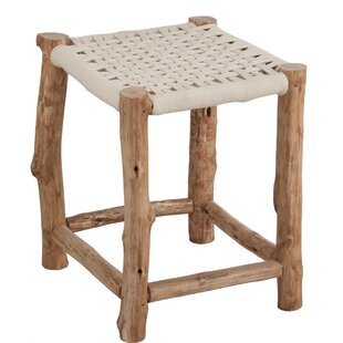 Crete Wood Stool By Beachcrest Home