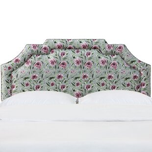Erkerd Notched Border Upholstered Panel Headboard by One Allium Way