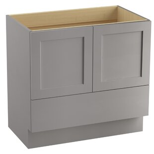 Poplin? 36 Vanity with Toe Kick, 2 Doors and 1 Drawer by Kohler