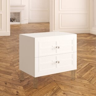 Bournon 2 Drawer Nightstand by Everly Quinn