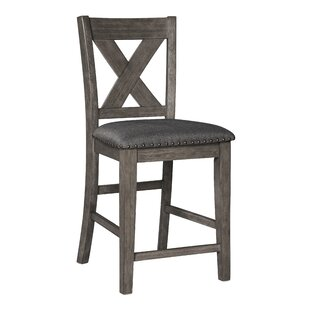 Cavallaro Counter Height Upholstered Bar Stool (Set of 2) by Gracie Oaks