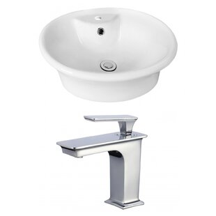 Compare & Buy Ceramic Oval Vessel Bathroom Sink with Faucet and Overflow By Royal Purple Bath Kitchen