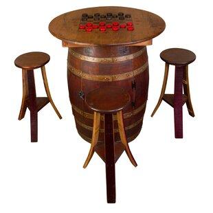 Whiskey Barrel 5 Piece Dining Set