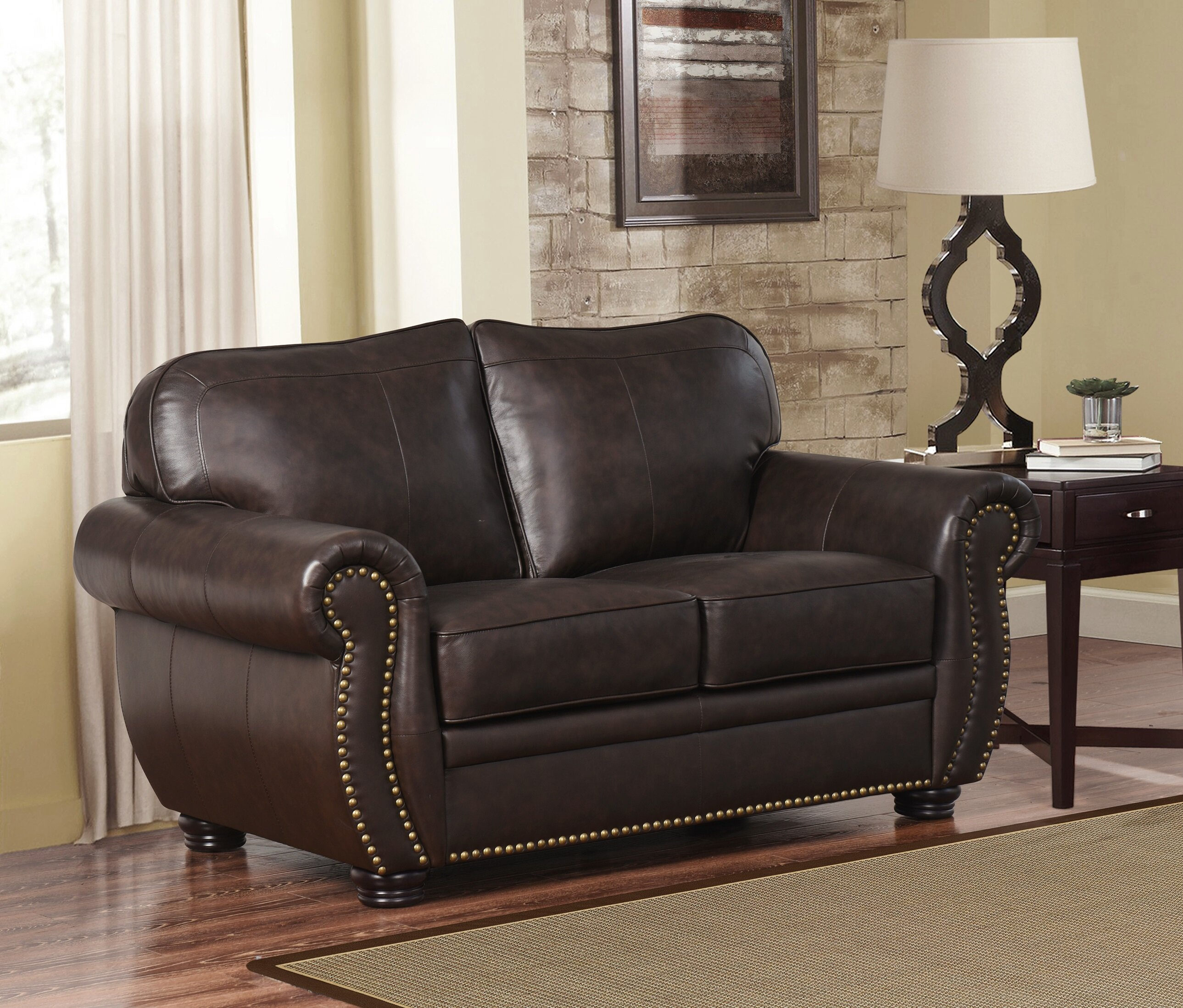 Pleasant Hotchkiss Leather Loveseat Alphanode Cool Chair Designs And Ideas Alphanodeonline