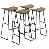 Gusman Solid Wood 29 Bar Stool (Set of 4) by 17 Stories
