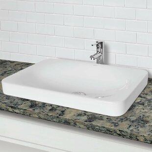 DECOLAV Hazel Classically Redefined Vitreous China Rectangular Vessel Bathroom Sink