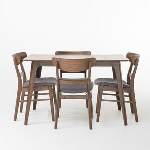 Yolanda 5 Piece Wood Dining Set by Langley Street