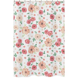 Bargain Watercolor Floral Shower Curtain By Sweet Jojo Designs