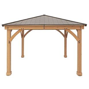 Meridian 12 Ft. W X 12 Ft. D Solid Wood Patio Gazebo By Yardistry