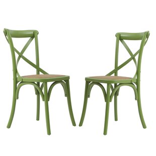 Lianes Cross Back Solid Wood Dining Chair..