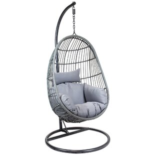 Horowitz Rattan Egg Shaped Swing Chair With Stand