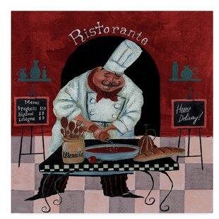 U0027Chef Kitchen Menusu0027 Acrylic Painting Print On Wrapped Canvas