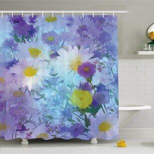 Best Watercolor Flower Home Vintage Flower in Pastel Color Fragrance Natural Bloom Beauty Print Shower Curtain Set ByAmbesonne