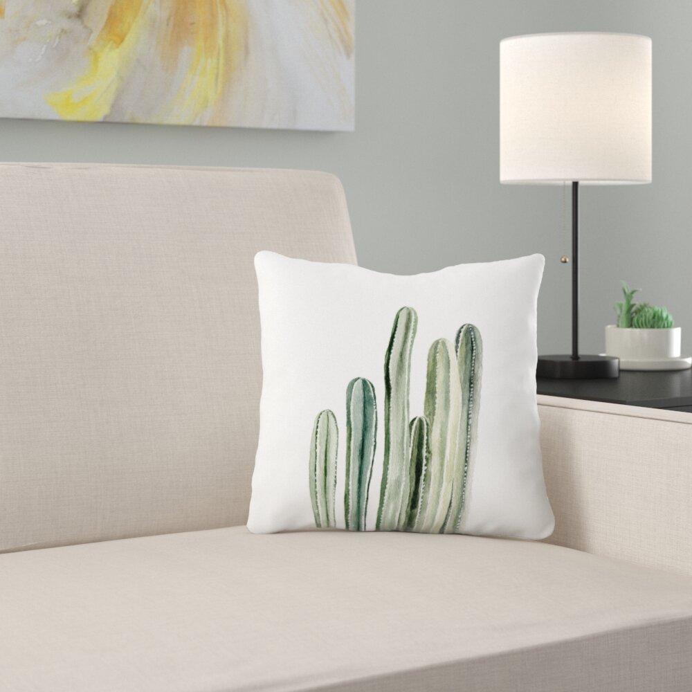 East Urban Home Shealeen Louise Tall Cacti Throw Pillow