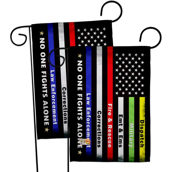 Breeze Decor No One Fights Alone Impressions Decorative 2 Sided Polyester 19 X 13 In Garden Flag Wayfair