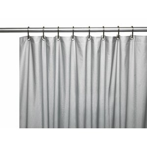 ... Magnets · Vinyl 3 Gauge Shower Curtain Liner With Weighted Magnetetal  Grommets ...