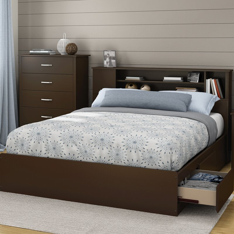 south shore fusion 40.25in tall queen platform bed & reviews | wayfair
