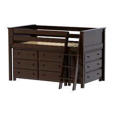Twin Loft Bed with 2 Dresser by Jackpot!