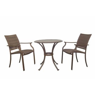 Panama Jack Outdoor Island Cove 3 Piece Bistro Dining Set