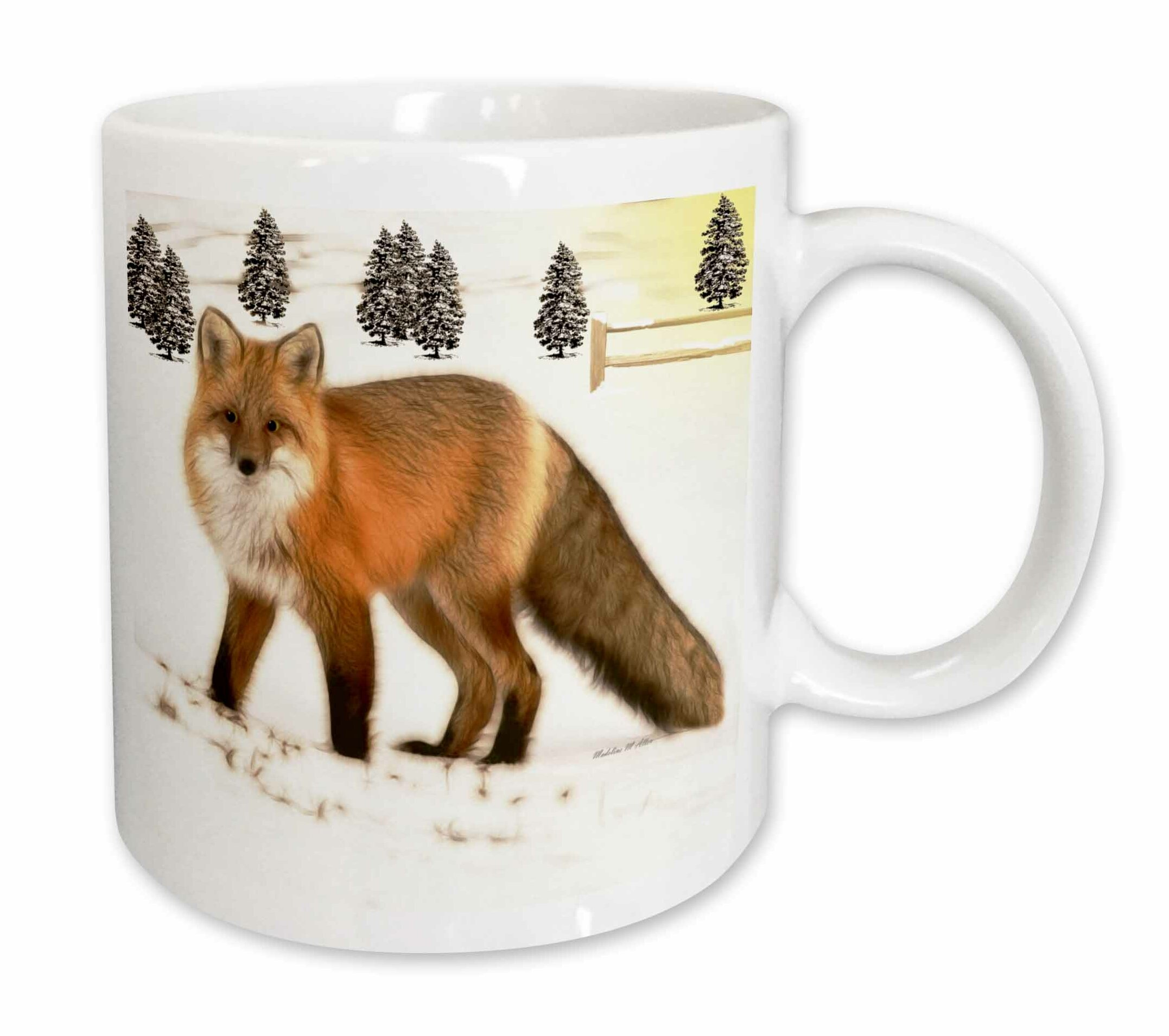 East Urban Home Fractalius Fox Coffee Mug Wayfair