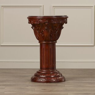 Kellum Amandari Inlaid Pedestal Plant Stand by Astoria Grand